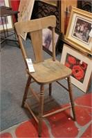 Tall Antique Wood Chair