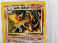 2000 Pokemon Gym Chal. Holo Blaine's Charizard PSA