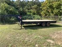 AUCTION TIME - Gooseneck Trailer & Bass Boat