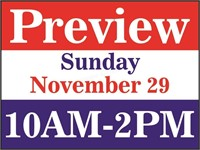 PREVIEW - Sunday, Nov. 30 from 10 AM - 2 PM