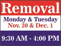 REMOVAL - Monday, Nov.