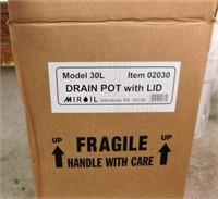 Grease Drain Pot w/Lid-NEW