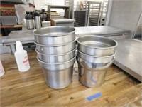 (7) SS 7 Qt Insert Pots