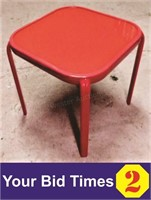 "16"" X 16"" Red Metal Tables"