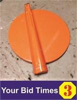"Orange, Metal 24"" Table"