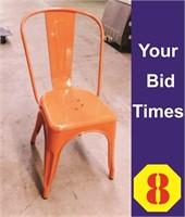 Orange, Metal Dining Chairs