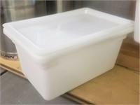 (3) Food Containers-Lids- 4.75 Gal.