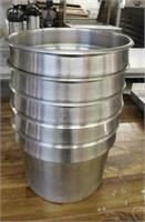 (5) SS 11 Qt Insert Pots