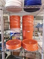 5 Gallon Buckets w/Lids-(10)