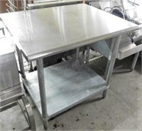 """SS Top Work Table, 30""""X36"""""""