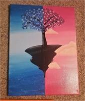 (3)Acrylic Paintings on Canvas