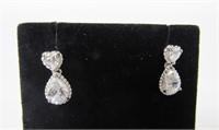 3.50 ct White Topaz Earrings