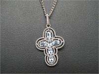 2 ct Blue Topaz Necklace
