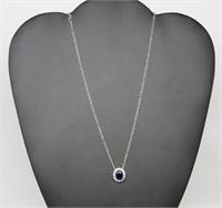 4 ct Sapphire Designer Necklace