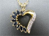 Sapphire & Diamond Accent Necklace