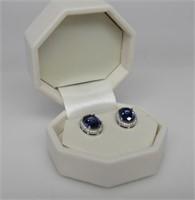 4.15ct Tanzanite Designer Earrings
