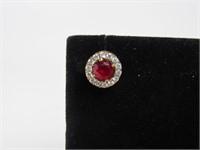 2.5 ct Ruby Earrings