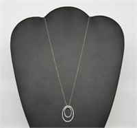Double Oblong Ring Necklace