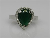 3 ct Emerald Ring