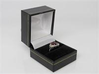 7 ct Garnet & Topaz Ring
