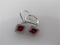 Ruby & Topaz Earrings