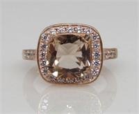 4.1 ct Morganite Designer Ring