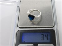 Sapphire & Topaz Ring