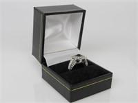 Black & White Topaz Ring