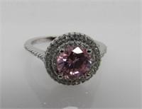 4.1 ct Pink Sapphire Designer Ring