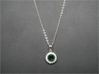 2 ct Green Quartz Necklace