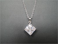 2.5 ct White Topaz Necklace