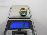 4 ct Aquamarine Designer Ring