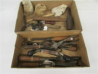 Collectible Tools Draw knife, vise, bevel,