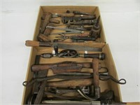 Collectible tools Draw knife, hand drills,
