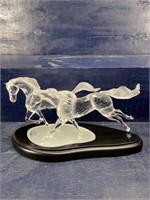 LARGE SWAROVSKI CRYSTAL WILD HORSES LIMITED