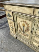 LARGE DECORATED SIDEBOARD
