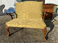 CHIPPENDALE OPEN ARM SETTEE