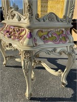 PAINT DECORATED FRENCH CURIO