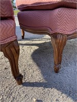 FRENCH CHAIR AND FITTED OTTAMON
