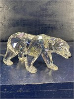 SWAROVSKI CRYSTAL SIKU POLAR BEAR HEX FACET IN