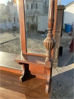 MAHOGANY ENGLISH BUFFET WITH MIRROR