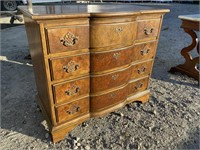 BAKER SOLID MAHOGANY 4 DRAWER CHEST; BRACKET
