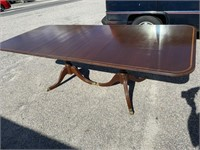 MAHOGANY GRAND RAPIDS INLAID DINING ROOM TABLE