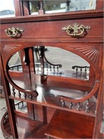CARVED MAGHOGANY ETERGE, BEVELED MIRRORS