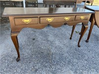 SOLID MAHOGANY 3 DRAWER CONSOLE TABLE