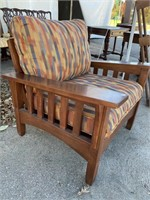 ETHAN ALLEN MISSION STYLE MAHOGANY ARM CHAIR