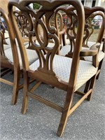 SET OF 10 BAKER CHIPPENDALE CHAIRS