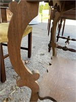OAK CENTER TABLE WITH SCALLOPED EDGE