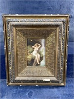 ANTIQUE 1900'S PAINTING ON PORCELAIN  OF ART