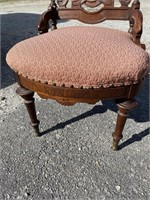 VICTORIAN REVIVAL CARVED HIP REST CHAIR